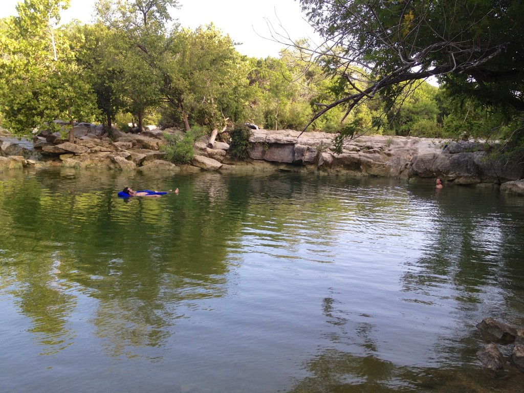 Epic Swimming hole on Barton Creek at Sculpture falls