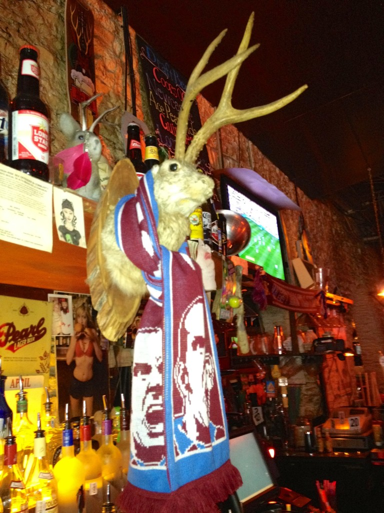Note the jackalope wearing the West Ham Scarf!