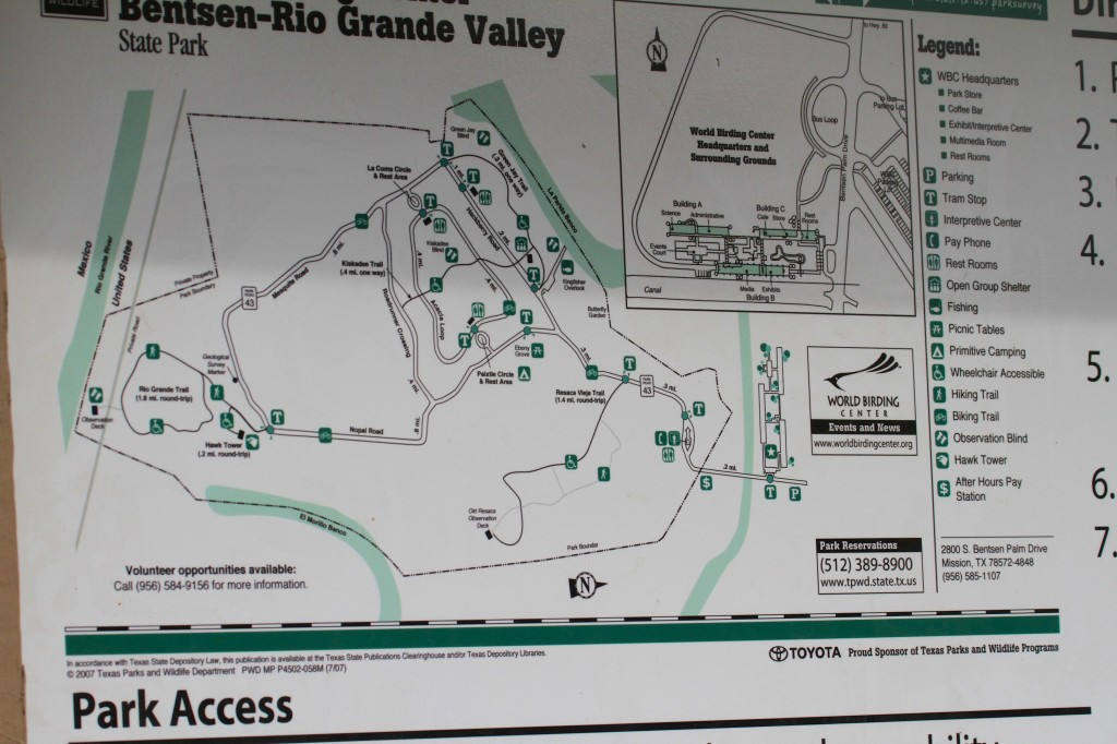 The Trail Map at the entrance