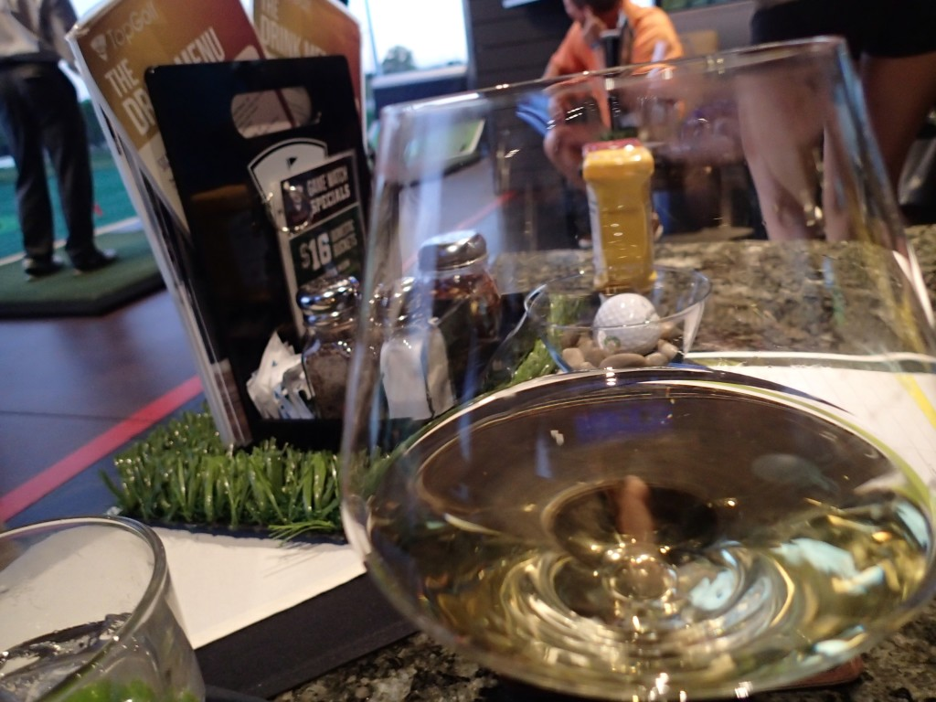 A White Wine at Top Golf