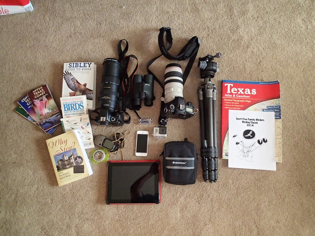 Tools of the trade for Birders