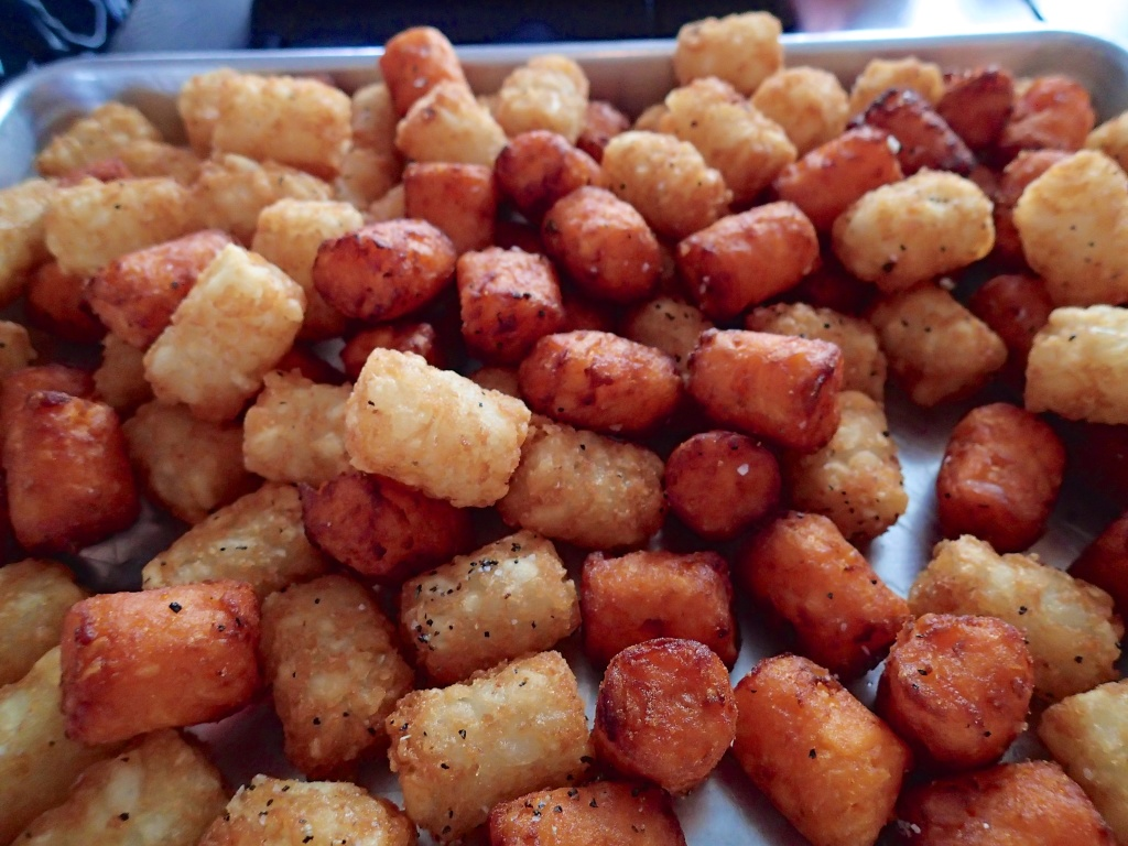 sweet potato and regular Tater tots! ( dreamy)