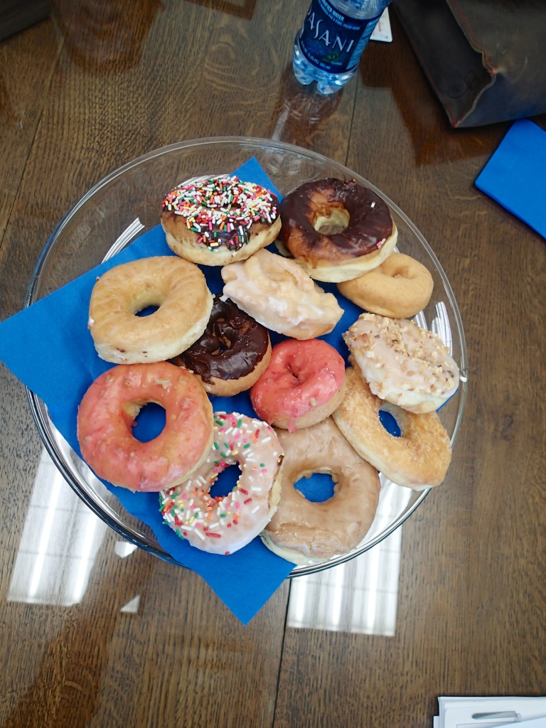 The Donut plate made available at the Title company when we bought our House