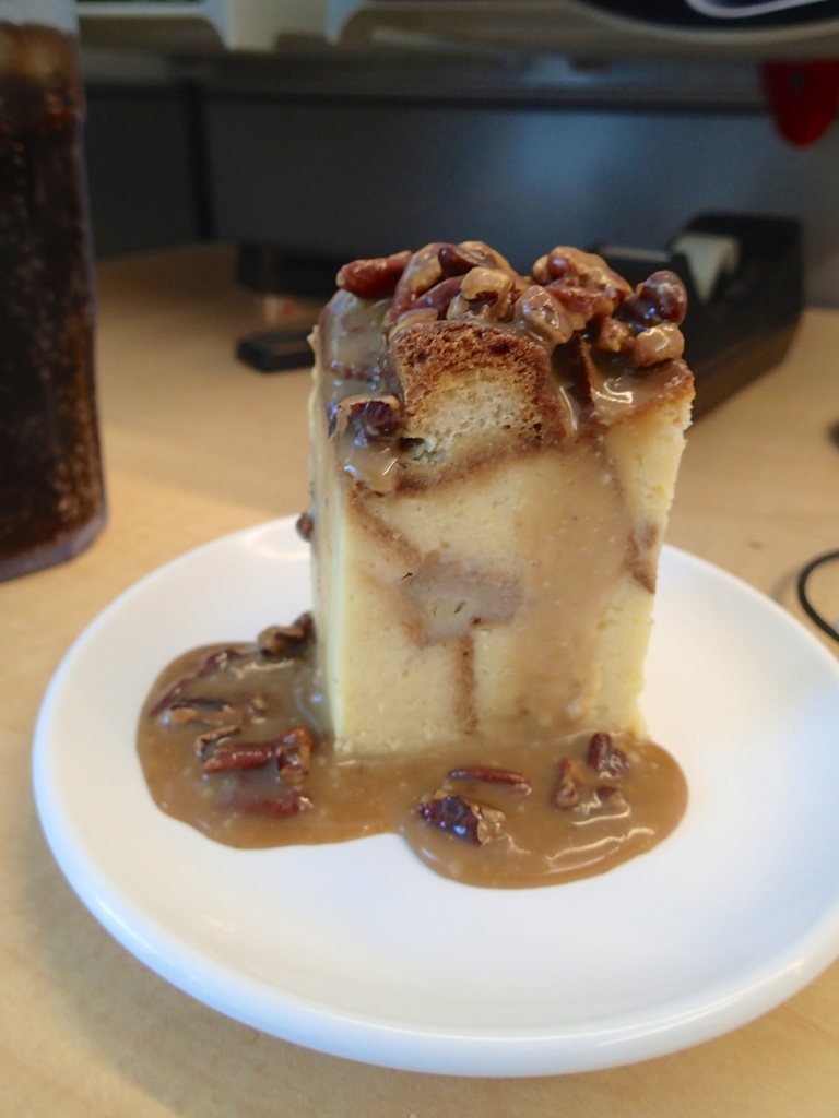 Pecan Bread Pudding from work