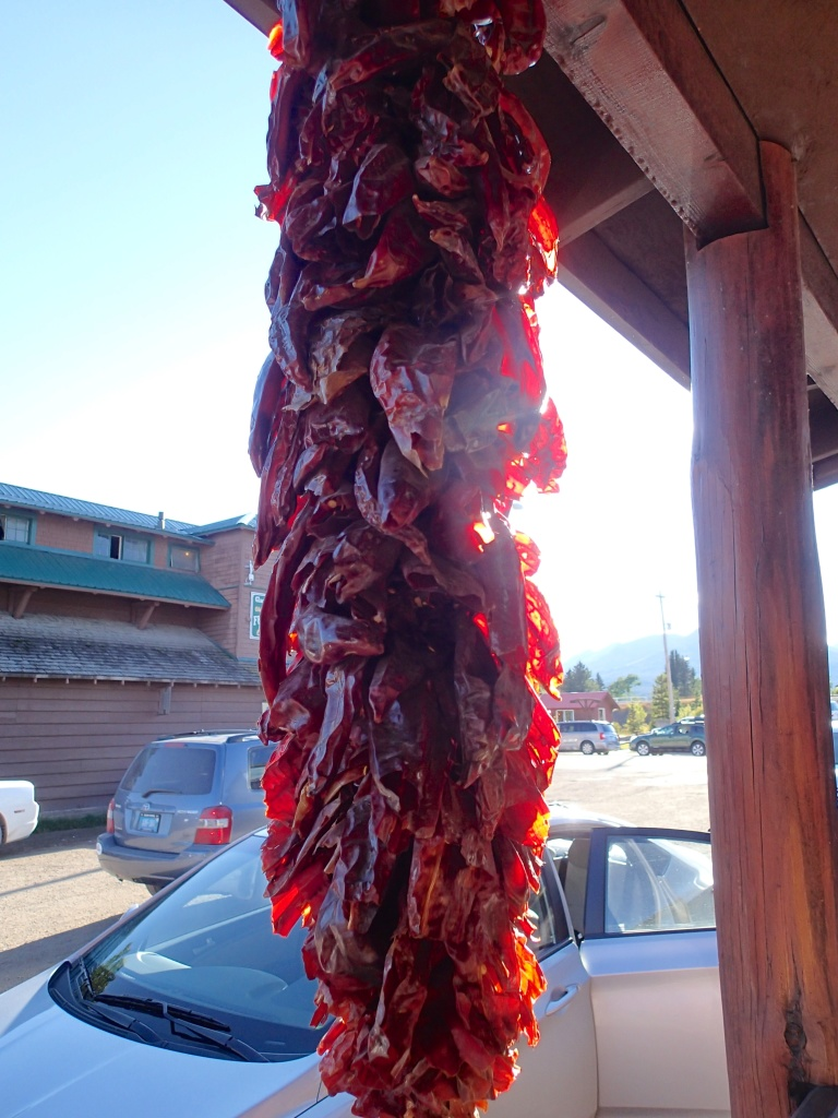 Chili Ristra outside Serrano's in East Glacier