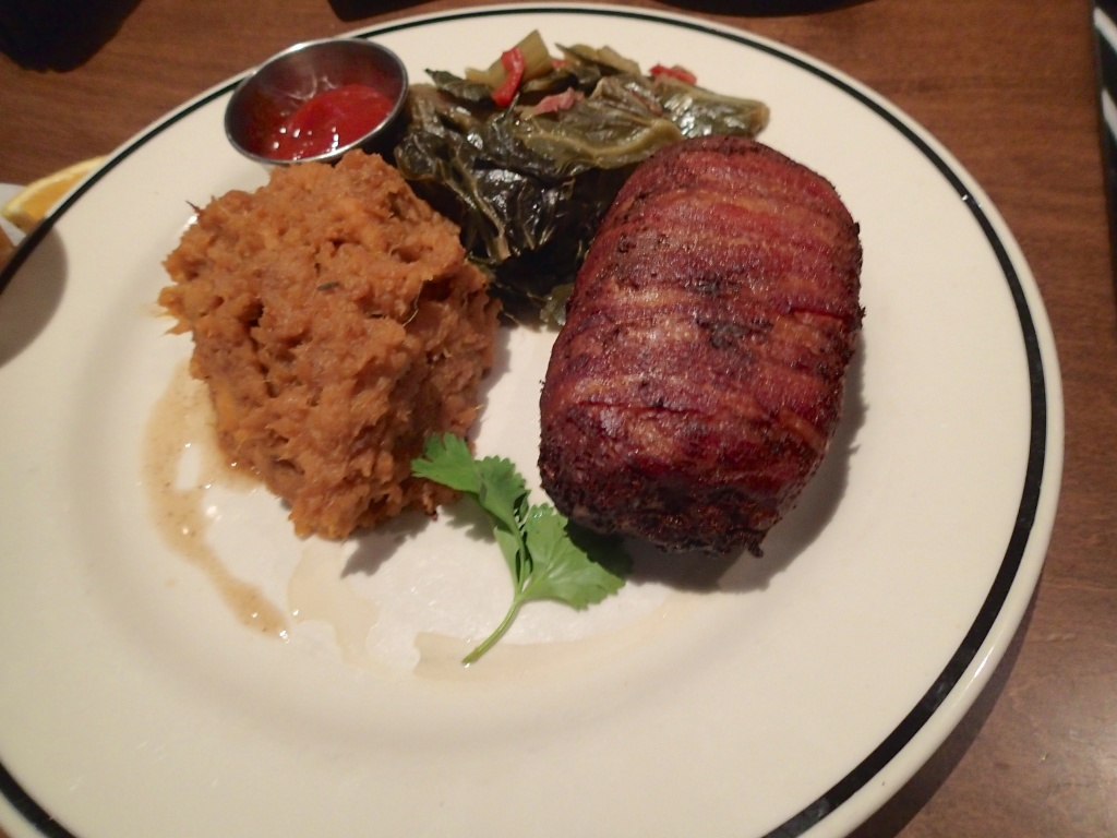 Bacon Wrapped Meat Loaf at Black finn.. NOT me.. LOL