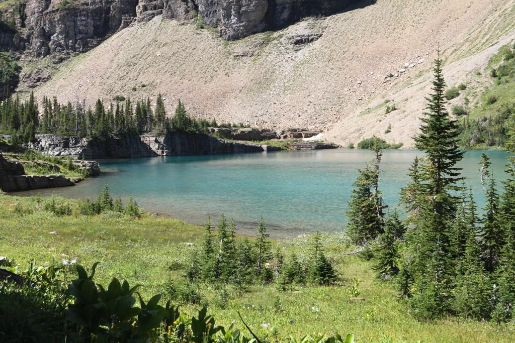 Alpine pond along they way..