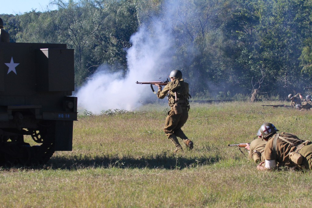 Americans Advance on fortified locations