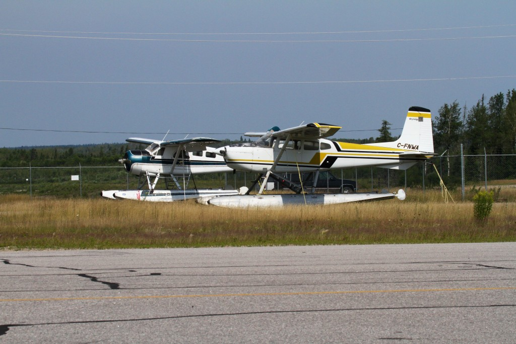 Float Planes wait in the back..