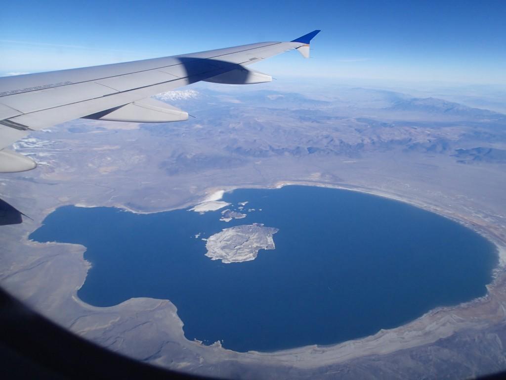Flying over the Sierra