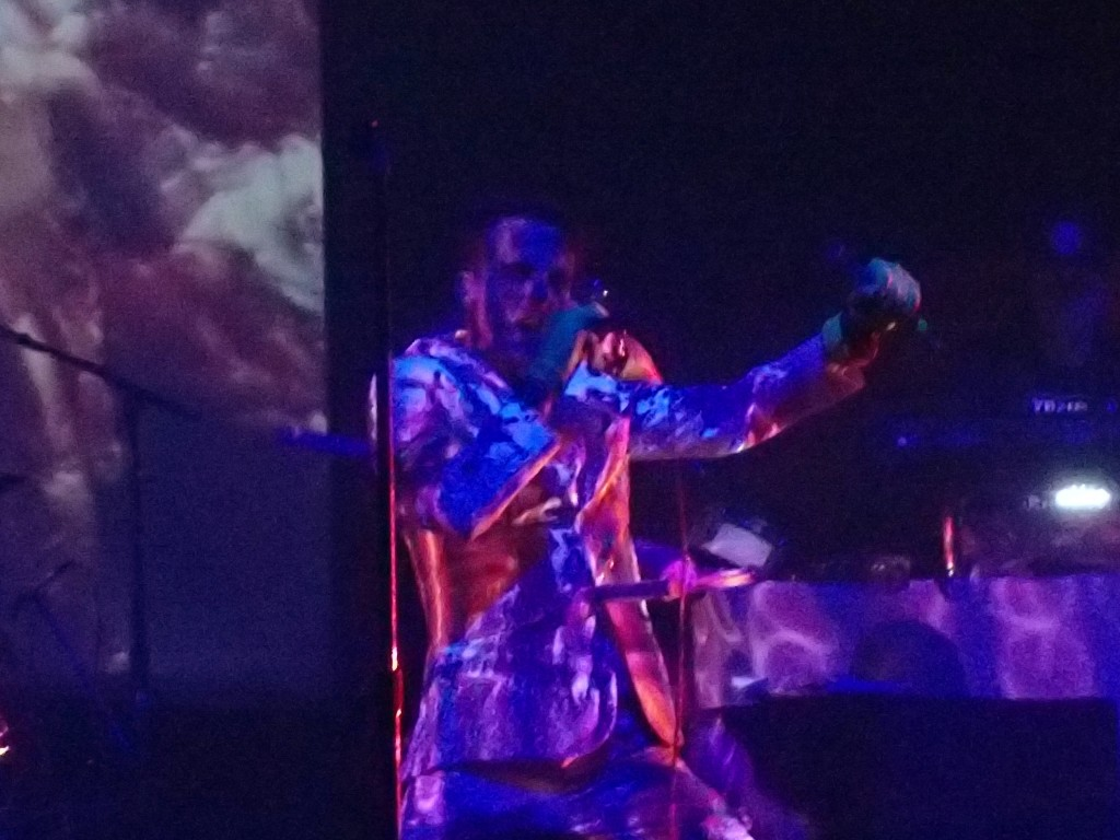 Psychedelic projections At Skinny Puppy