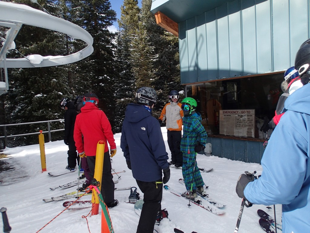 Biff, His son Blaise, and Cuz ahead of us in the lift line