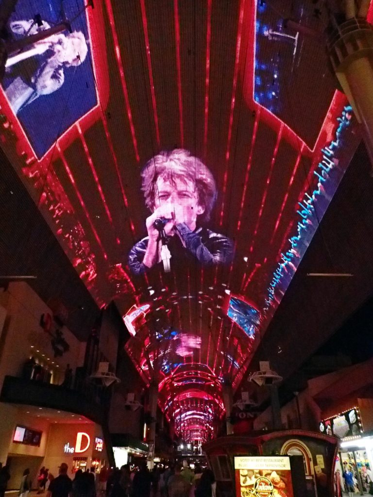 John Bon Jovi on the Fremont street experience