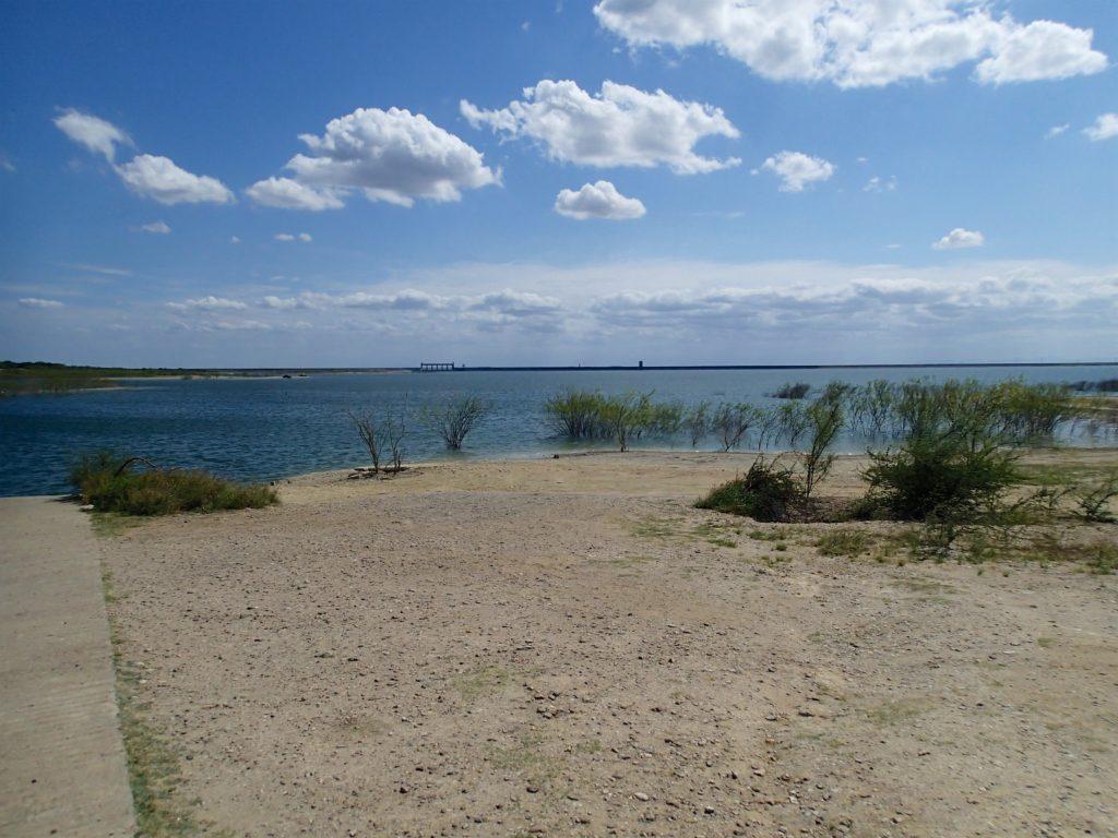 Falcon Lake Straddling the Border